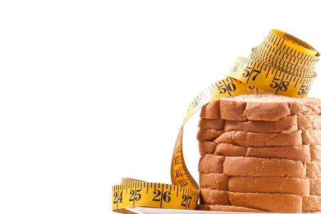 weight loss plan: Guardando il vostro sfondo Carbs concetto con spazio per il testo Archivio Fotografico