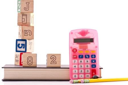 Basic Math Education for Kids Stock Photo - 8855359