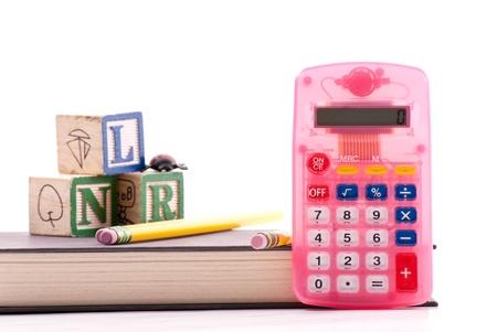 vocational high school: Pink Beginners Calculator