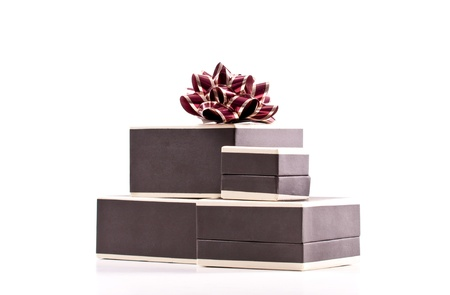 commandment: Stack of Jewelry Gift Boxes with Bow