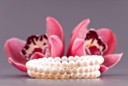Three Strand Pearl Bracelet Stock Photo - 8855425
