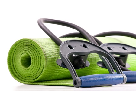resistance: Fitness Mat and Resistance Bands