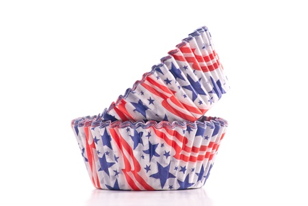 Patriotic Baking Supply Cup Cake Holders Stock Photo - 8940282