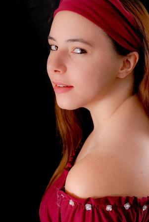 Side Profile Portrait of a Gypsy photo