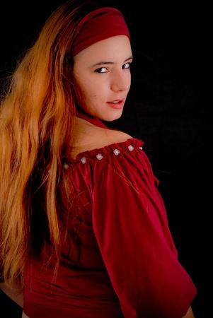 mischevious: Gypsy Glancing Behind Her