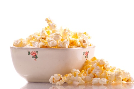 Bowl of Popcorn Snack Food photo