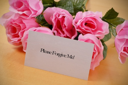 condolence: Asking For Forgiveness Stock Photo
