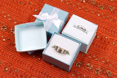 Silver Wedding Rings for Her and Him Stock Photo - 9156806