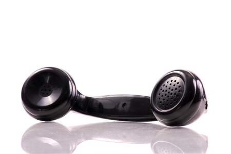 handset: Black Vintage Phone