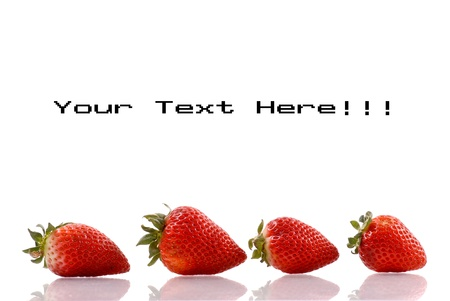 Strawberry Fruit Background Image with Space for Text photo