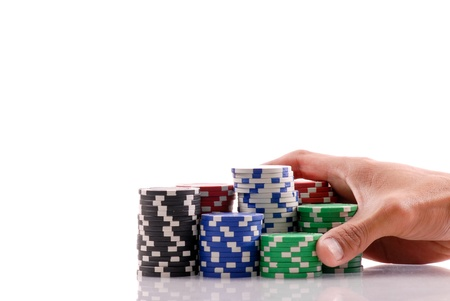 all in: Idea of Going All In Stock Photo