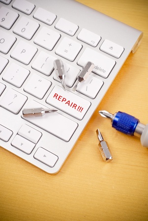 Repair on Computer Concept Image Stock Photo - 9228257