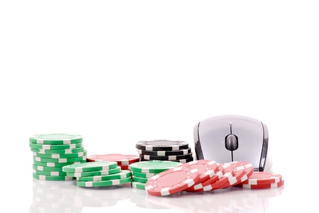 Online Gambling Games Concept Image Stock Photo