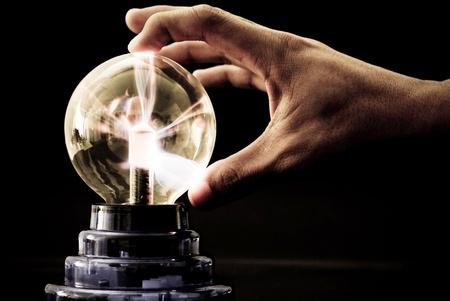 spirale: Plasma Tesla Ball schießen aus Strom