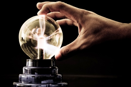 coil: Plasma Tesla Ball Shooting Out Electricity