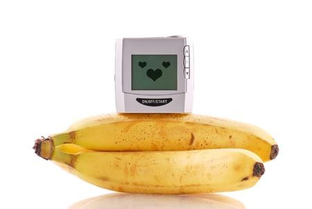 바나나에 혈압 모니터