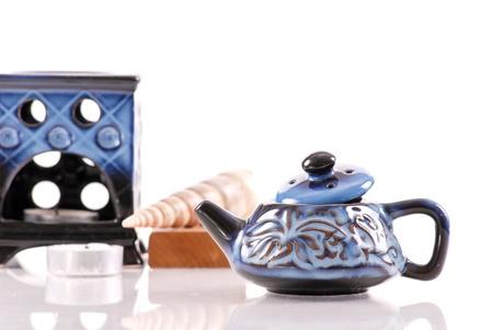 Blue Ceramic Oil Burner Kettle photo