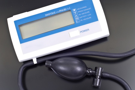 diastolic: Diastolic Heart Monitor For Blood Pressure Stock Photo