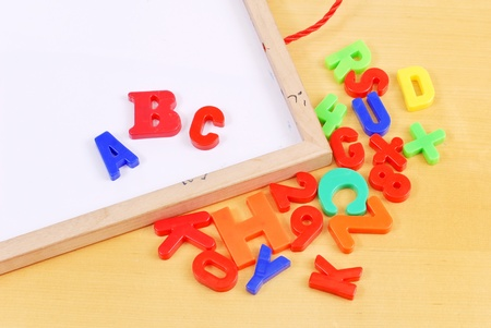 Magnet Letters with White Board photo