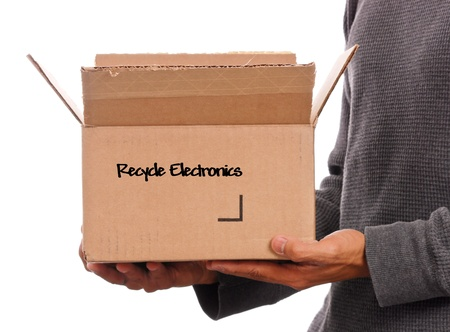 Box of Recyclable Electronics Stock Photo - 9493768