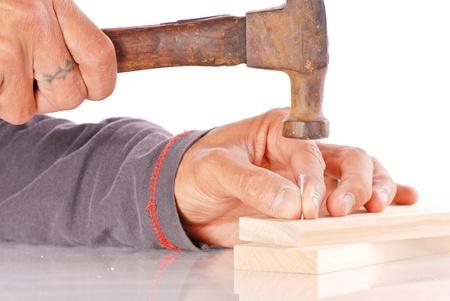 Hammering a Nail Stock Photo - 9493771