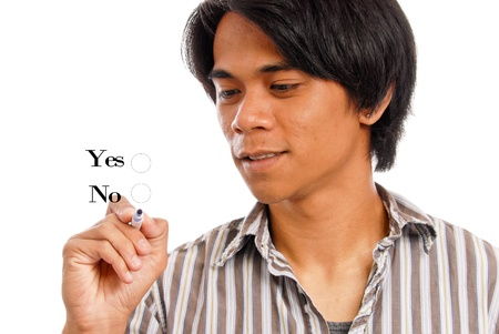 idealism: Young Male Choosing His Options