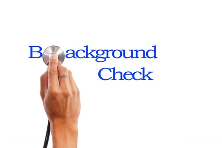 background check: Background Check Stock Photo