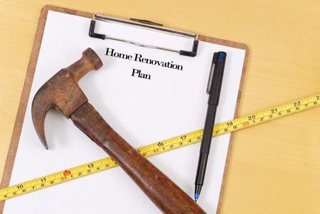 Home Renovation Plans Zdjęcie Seryjne