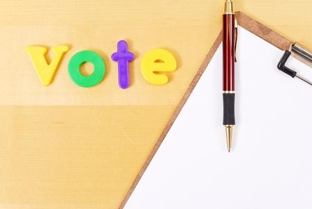 idealism: Voting Stock Photo