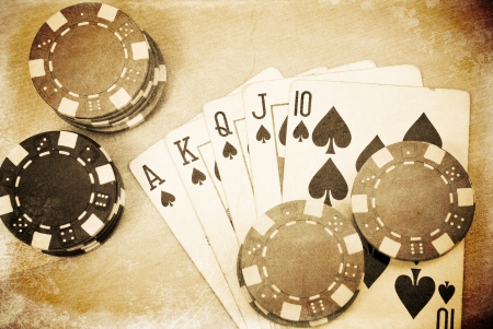 em: The Royal Flush Stock Photo