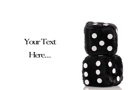 Two Fuzzy Dice with Space For Text photo