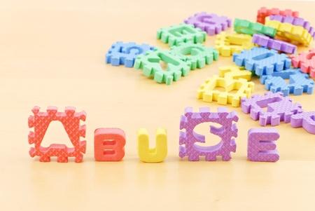 Schuim brieven Spelling misbruik