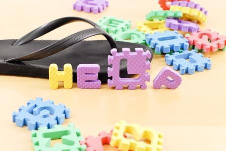 Childs schreeuw om hulp Stockfoto