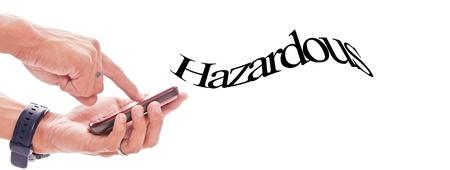 emit: Cell Phone Emitting Hazardous Waves Stock Photo