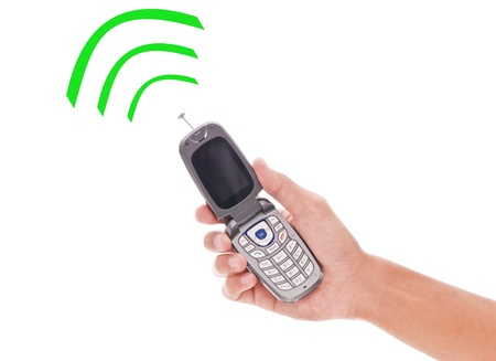 phone: Cell Phone with Fun Radio Wave Signals