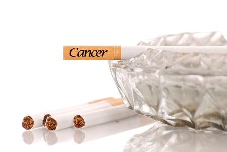 Cancer Written on Cigarette  photo