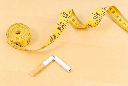 quitting: Weight Gain From Quitting Smoking Stock Photo