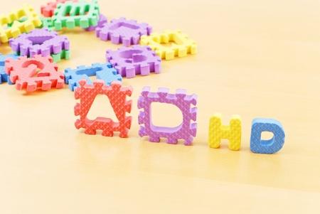 Foam Letters Spelling ADHD
