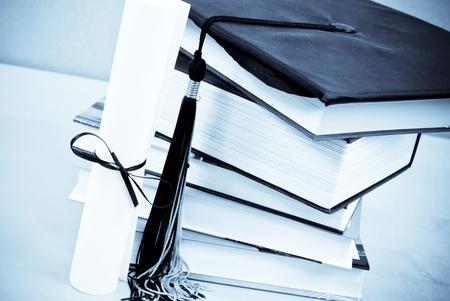 fondo de graduacion: Universidad de graduaci�n Foto de archivo