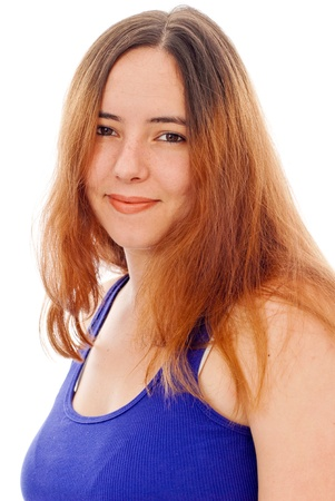 Profile Image of Smiling Girl with Blue Tanktop photo