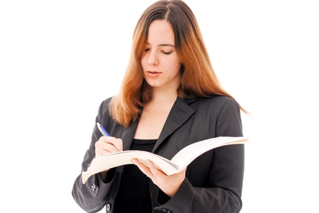 Business Woman Signing Contract Stock Photo - 10072073