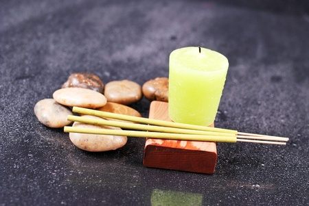 Lemon Scented Incense with Matching Candle photo