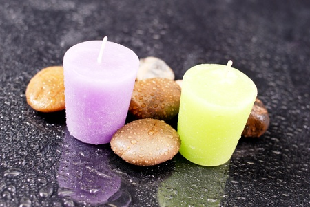 Lavender and Lemon Bath Time Sceneted Aroma Candles Stock Photo - 10129036