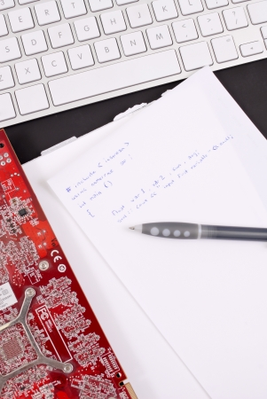 Computer Programming Script photo