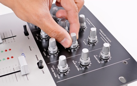 Turning Up the Hi Frequency Stock Photo