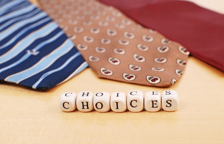 Business Dress Tie choices Stock Photo - 10313397