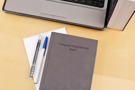 Computer Programming Education Text Book Stock Photo - 10369587