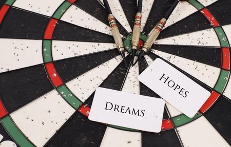 dart board: Hopes and Dreams