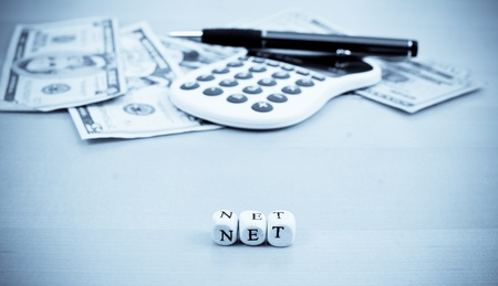 taxes budgeting: Net Profit Stock Photo