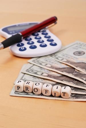 taxes budgeting: Your Profits Stock Photo